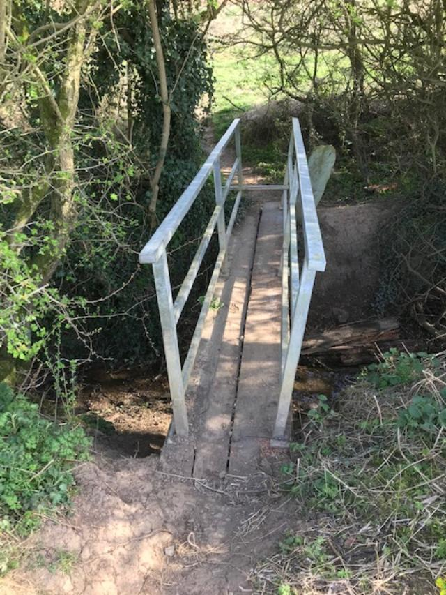 Picture of repaired bridge on Sexhow to Potto footpath
